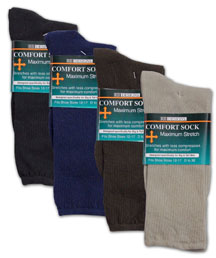 Extra Wide Comfort Fit Socks